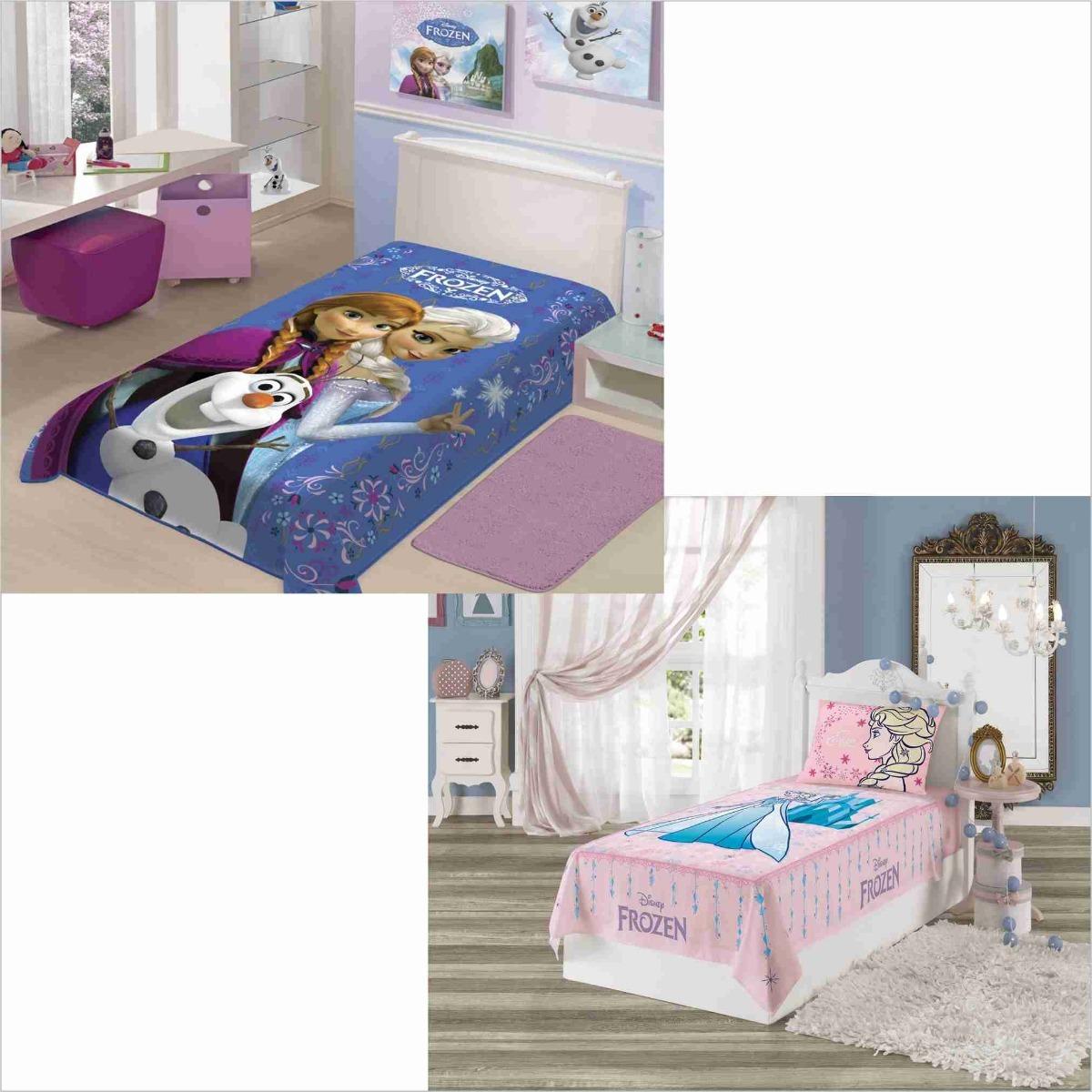 eacb094cd9 cobertor+ jogo cama lençol 3 pçs infantil frozen disney. Carregando zoom.