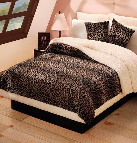 Cobertor leopardo con borrega ks animal print envio gratis for Decoracion hogar leopardo