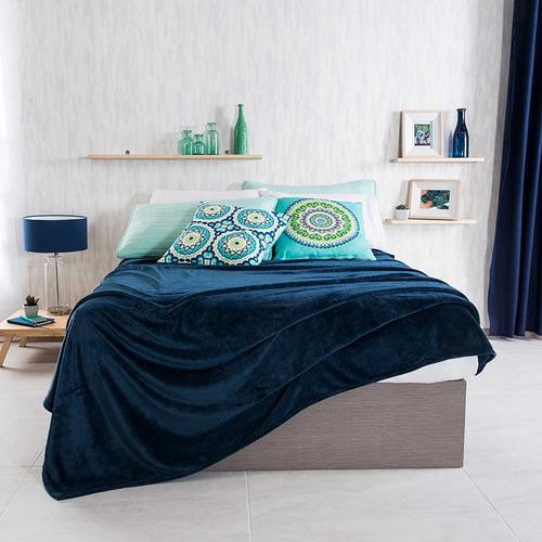 cobertor ligero frazada azul marino suave elegante vianney