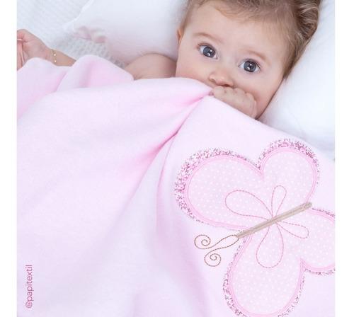 cobertor manta bebê estampado quentinho inverno soft - papi