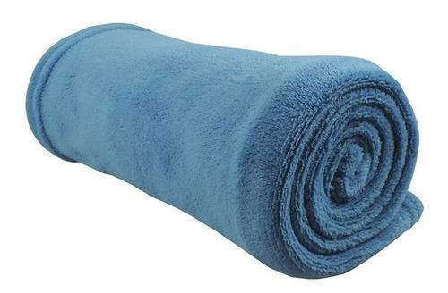 cobertor manta bebe infantil microfibra azul 80cm x 115cm