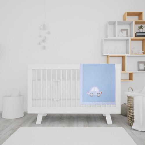 cobertor manta bebe menino soft anti-alérgico macio - papi