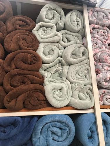 cobertor manta microfibra casal padrão cores super quentinha