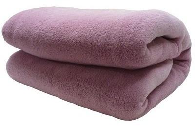 cobertor manta pet cães e gatos microfibra 80cm x 1,10m rosê