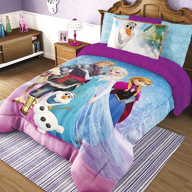 Cobertor Matrimonial Providencia Frozen Familia Borrega