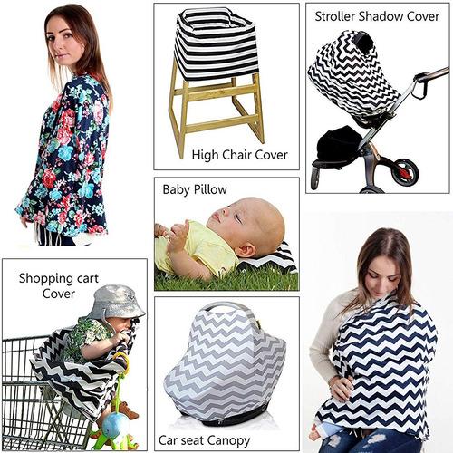 cobertor multiusos lactancia coche y asiento de bebe