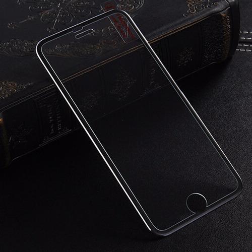 cobertor pantalla vidrio templado+borde metalic iphone 6/6s
