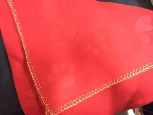 cobertor para cachorro - bastis ( vermelho )