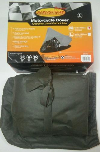 cobertor para moto de polipropileno talla m hercules car