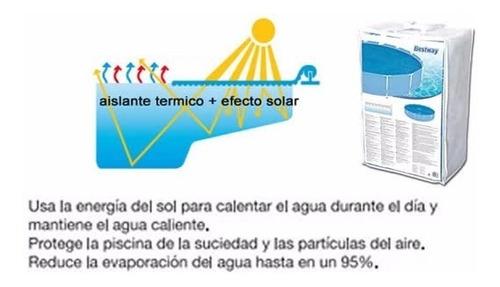 cobertor piletas termico solar cubre bestway 244cm lona