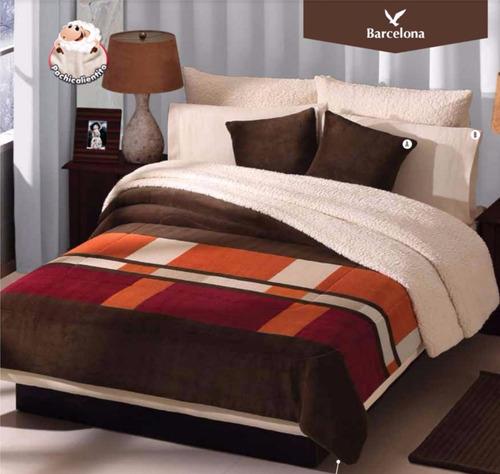 Cobertor concord borrega barcelona supermat queen size for Cuanto cuesta una cama king size