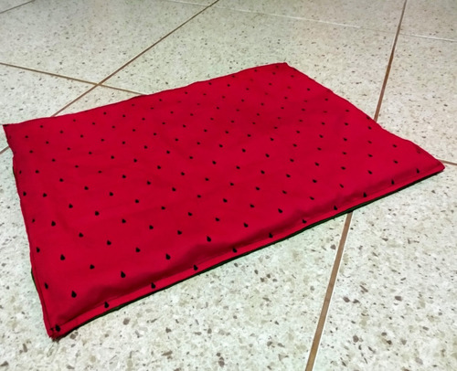 cobertor/cama para pet - melancia
