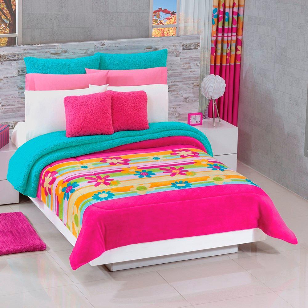 Cobertores de concord 100 poli ster coqueta rosa for Cobertores para muebles de sala