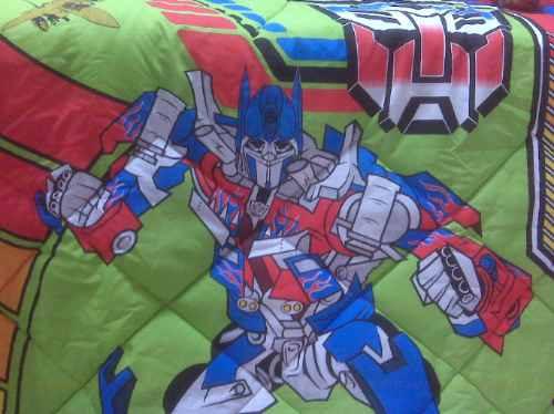 cobertores infantiles transformers