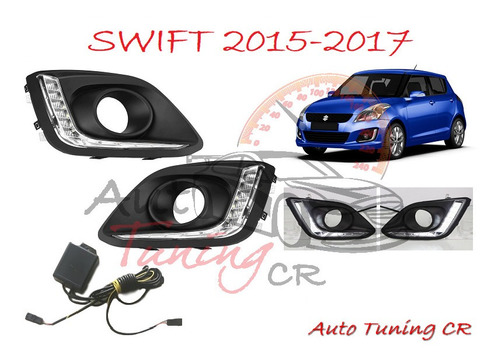 cobertores led drl suzuki swift 2015-2017