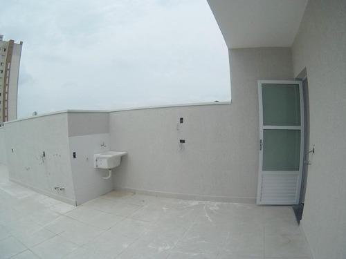 cobertura 130m², 2 dormitórios, suíte, 1 vaga, vila pires, santo andré - co0469