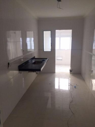 cobertura 2 dormitórios, aviação, praia grande, frente ao mar - co0005