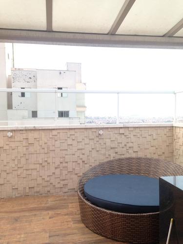 cobertura apartamento duplex com 3 dormitórios à venda no condomínio supera, 168 m² por r$ 1.000.000,00 - vila augusta - guarulhos/sp-aceita permuta - ad0003