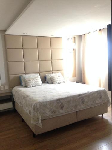 cobertura apartamento duplex com 3 dormitórios à venda no condomínio supera, 168 m² por r$ 900.000,00 - vila augusta - guarulhos/sp-aceita permuta - ad0003