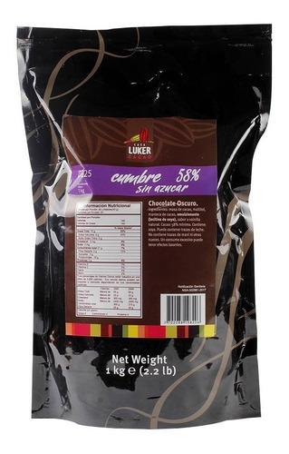 cobertura chococolate oscuro 58% cumbreluker 1kgs