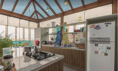 cobertura com 2 dormitórios para alugar, 180 m² por r$ 4.800,00/mês - centro - florianópolis/sc - co0295