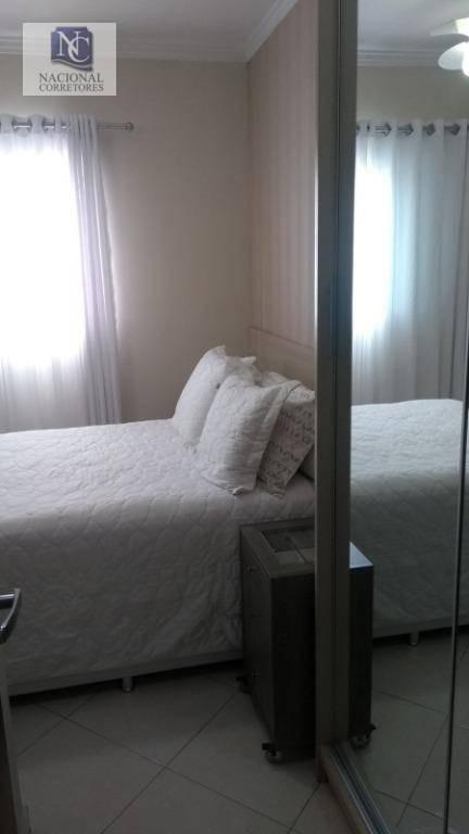 cobertura com 2 dormitórios à venda, 100 m² por r$ 335.000,00 - jardim santo antônio - santo andré/sp - co3924