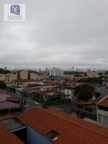 cobertura com 2 dormitórios à venda, 101 m² por r$ 320.000 - vila camilópolis - santo andré/sp - co4220