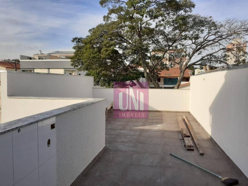 cobertura com 2 dormitórios à venda, 106 m² por r$ 335.000,00 - parque novo oratório - santo andré/sp - co0764