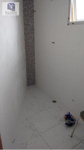 cobertura com 2 dormitórios à venda, 112 m² por r$ 245.000 - parque oratório - santo andré/sp - co1248