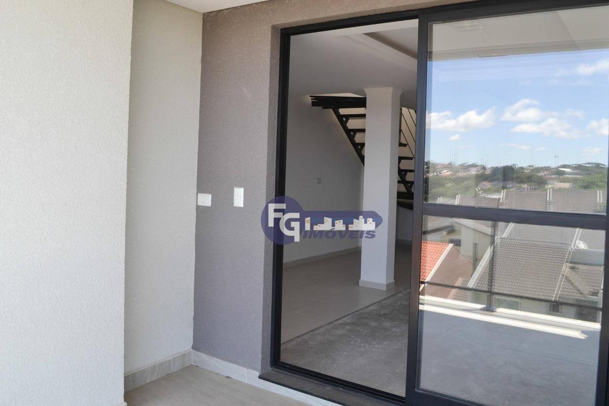 cobertura com 2 dormitórios à venda, 132 m² por r$ 600.000,00 - pilarzinho - curitiba/pr - co0044