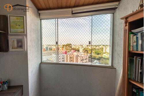 cobertura com 2 dormitórios à venda, 161 m² por r$ 658.000 - água verde - curitiba/pr - co0156