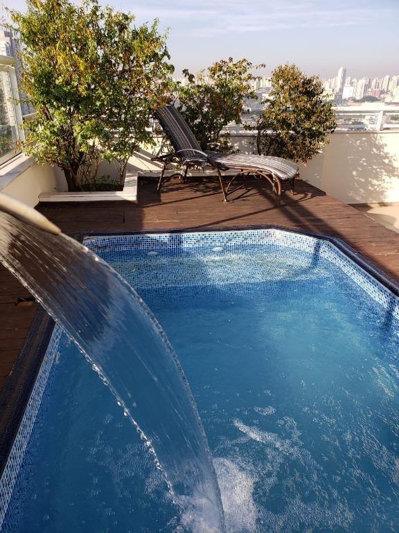 cobertura com 2 dormitórios à venda, 178 m² por r$ 1.200.000,00 - tatuapé - são paulo/sp - co0094