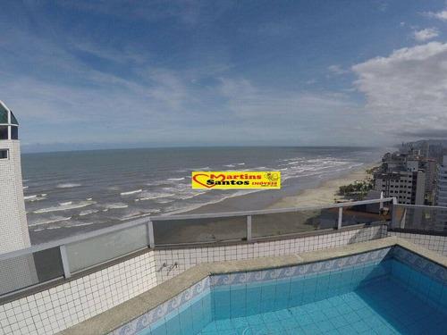cobertura com 2 dormitórios à venda, 205 m² por r$ 700.000 - aviação - praia grande/sp - co0038
