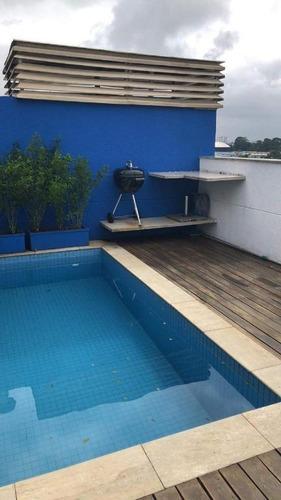 cobertura com 2 dormitórios à venda, 206 m² por r$ 1.750.000 - alto da boa vista - são paulo/sp - co0553