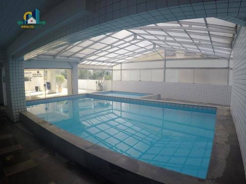 cobertura com 2 dormitórios à venda, 206 m² por r$ 700.000 - aviação - praia grande/sp - co0109