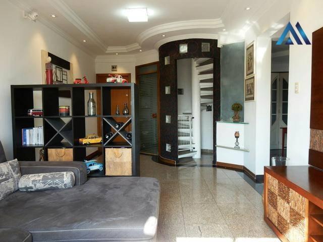 cobertura com 2 dormitórios à venda, 220 m² por r$ 850.000,00 - vila belmiro - santos/sp - co0013