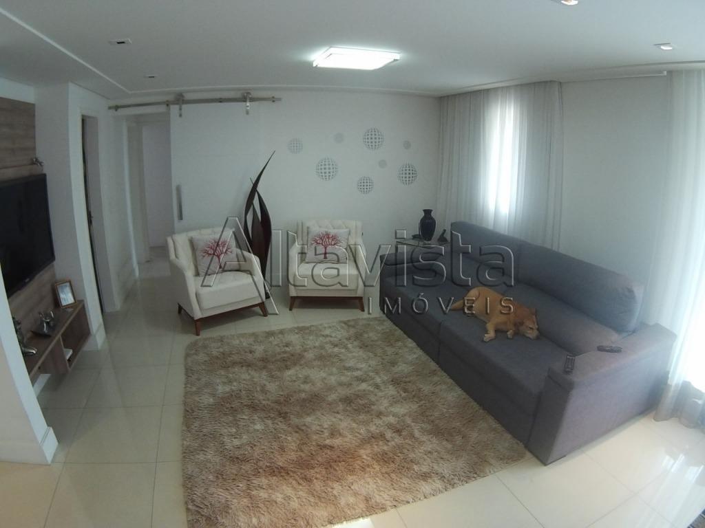 cobertura com 2 dormitórios à venda, 232 m² por r$ 1.490.000,00 - jardim - santo andré/sp - co0601