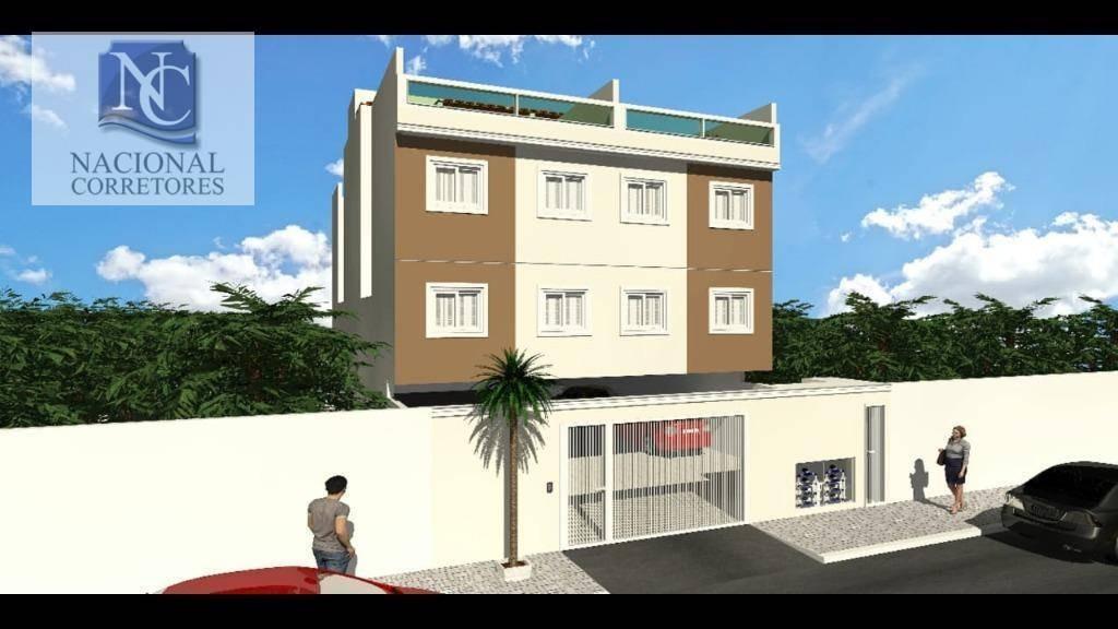 cobertura com 2 dormitórios à venda, 39 m² por r$ 175.000,00 - parque capuava - santo andré/sp - co4564
