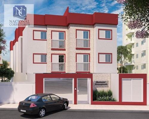 cobertura com 2 dormitórios à venda, 40 m² por r$ 249.000,00 - vila pires - santo andré/sp - co2010