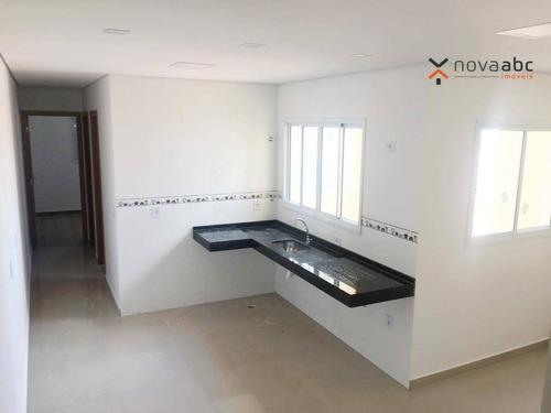 cobertura com 2 dormitórios à venda, 50 m² por r$ 335.000 - vila camilópolis - santo andré/sp - co0310