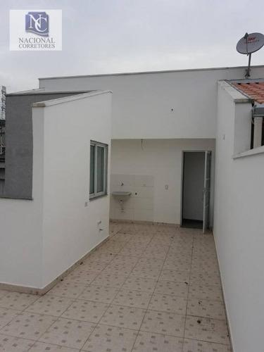 cobertura com 2 dormitórios à venda, 76 m² por r$ 230.000 - parque capuava - santo andré/sp - co1890