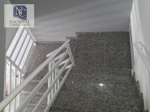 cobertura com 2 dormitórios à venda, 76 m² por r$ 235.000 - parque das nações - santo andré/sp - co3056