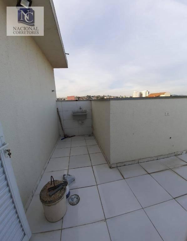 cobertura com 2 dormitórios à venda, 80 m² por r$ 255.000 - jardim das maravilhas - santo andré/sp - co3649