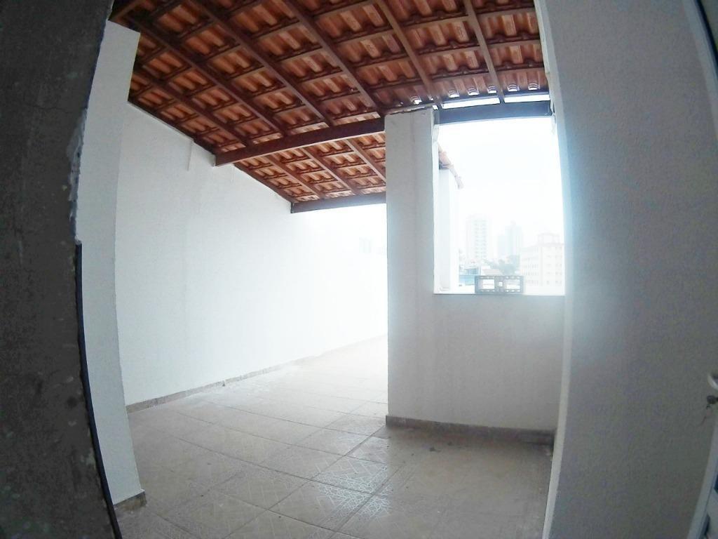 cobertura com 2 dormitórios à venda, 88 m² por r$ 270.000,00 - vila pires - santo andré/sp - co0564