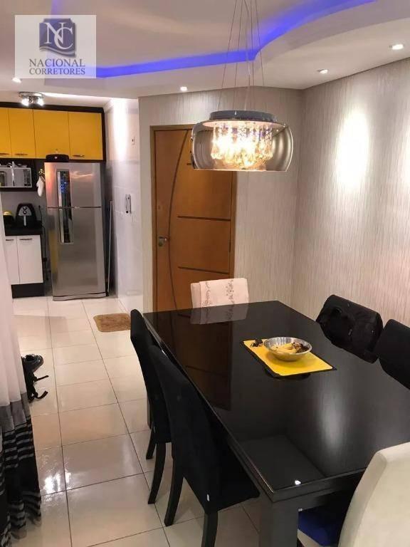 cobertura com 2 dormitórios à venda, 92 m² por r$ 270.000 - parque novo oratório - santo andré/sp - co2987