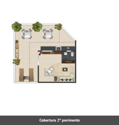 cobertura com 2 quartos no bairro santo antônio. - 1133