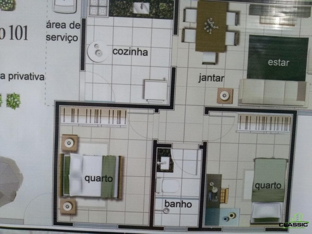 cobertura com 2 quartos para comprar no santa mônica em belo horizonte/mg - 3210