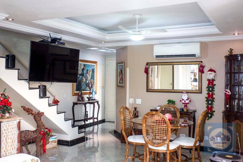 cobertura com 3 dormitórios para alugar, 138 m² por r$ 5.000/mês - ponta da praia - santos/sp - co0102