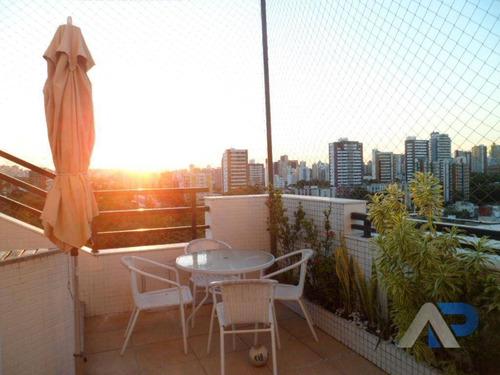 cobertura com 3 dormitórios à venda, 118 m² por r$ 650.000,00 - pituba - salvador/ba - co0004