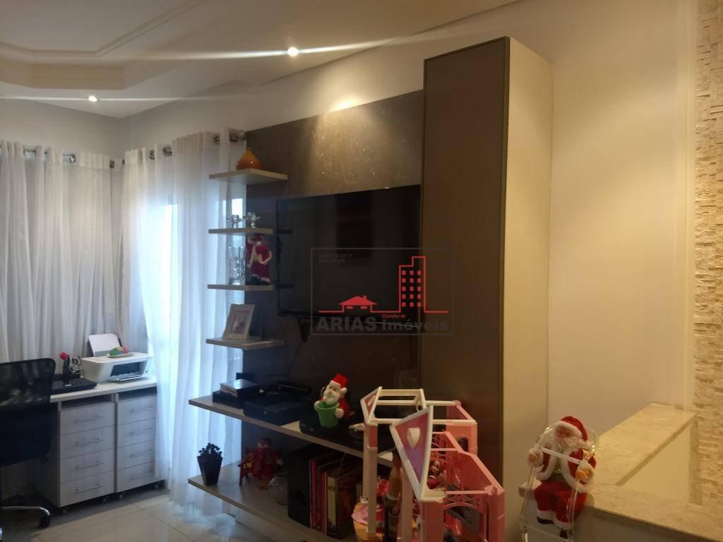 cobertura com 3 dormitórios à venda, 127 m² por r$ 540.000 - vila mogilar - mogi das cruzes/sp - co0001